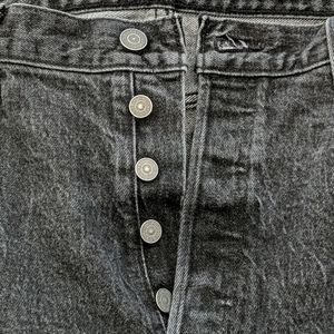 Levi's vintage black 501 denim button up jeans
